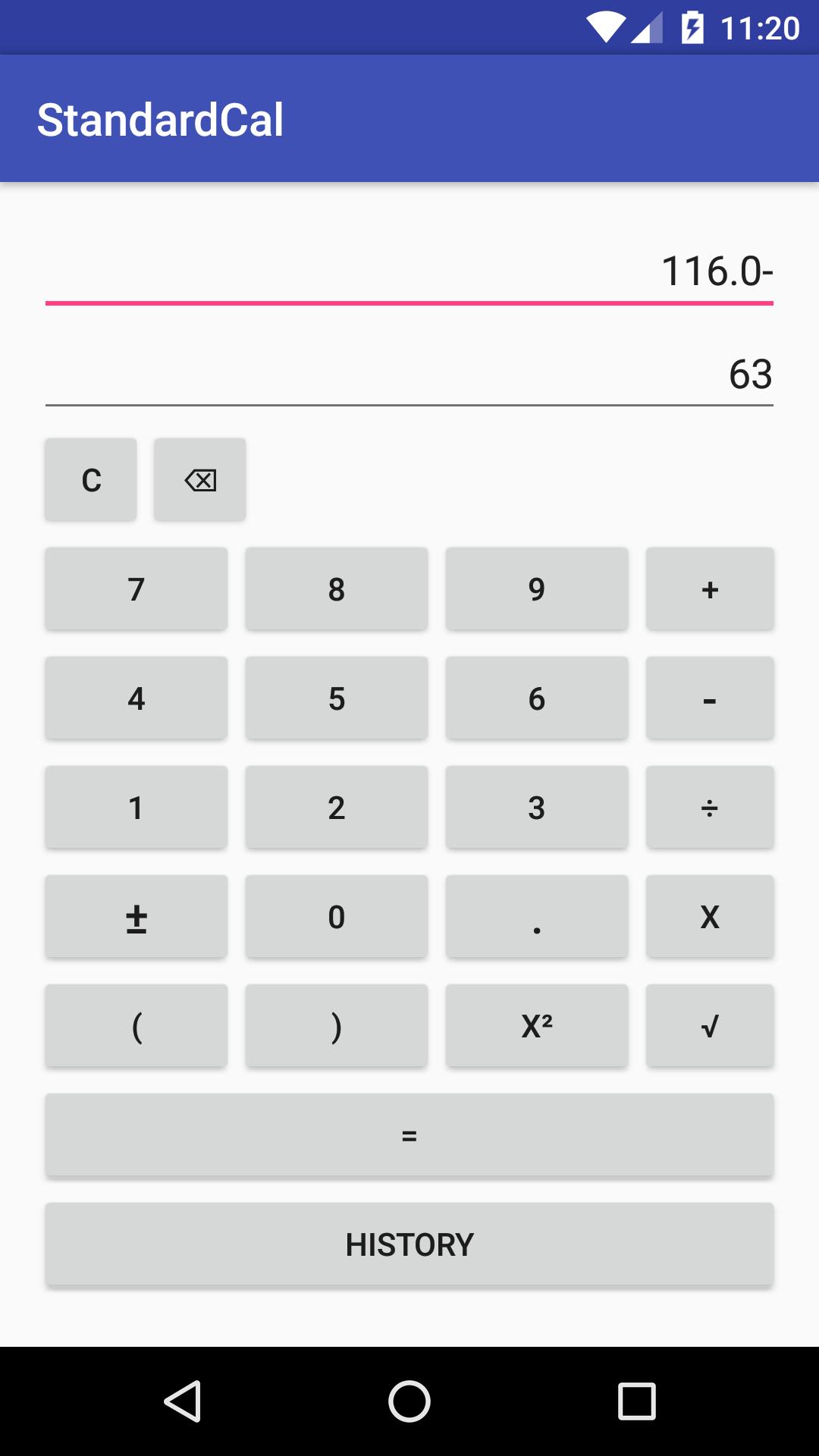 Standard Calc