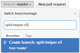 Create a new branch