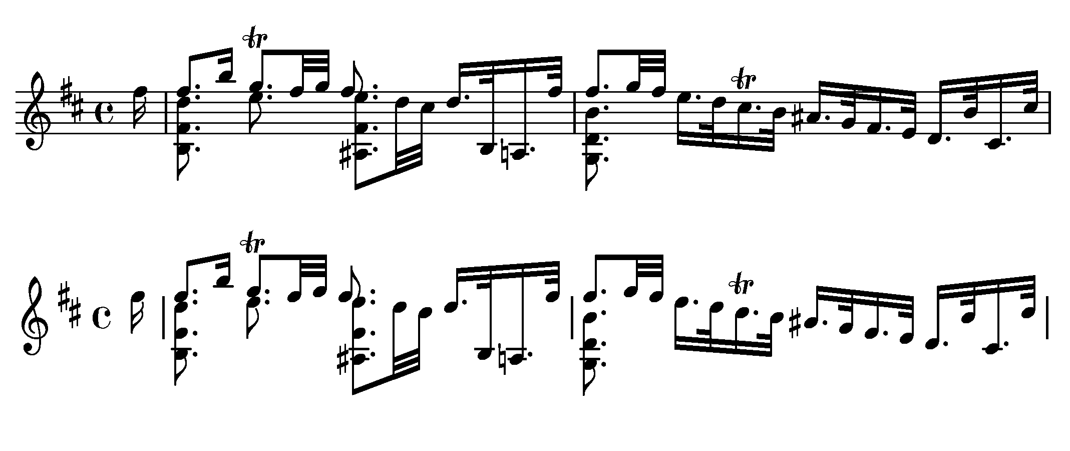 Example of the Gamera MusicStaves Dataset