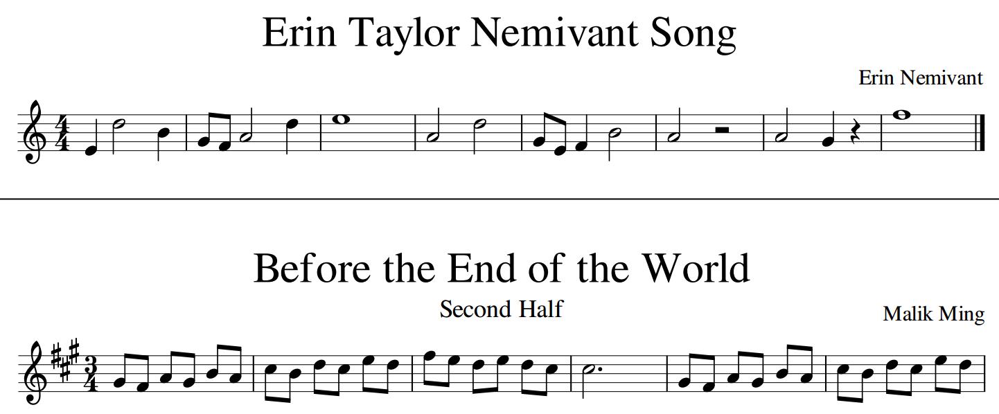 Example of Monophonic MusicXML dataset