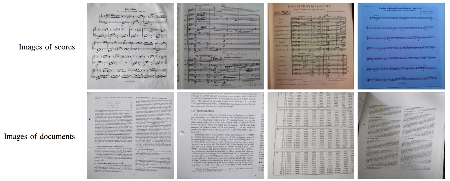 Example of MusicScoreClassifier dataset