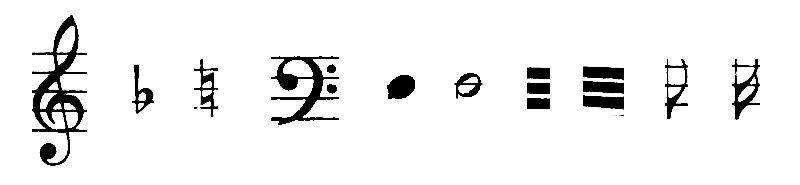 Example of the Printed Music Symbols Dataset