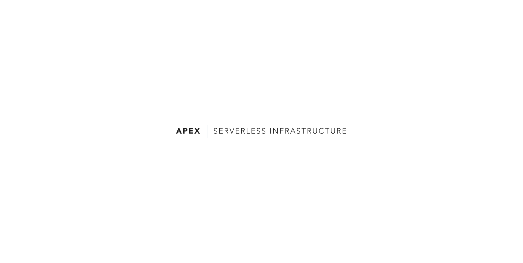 Apex Serverless Architecture