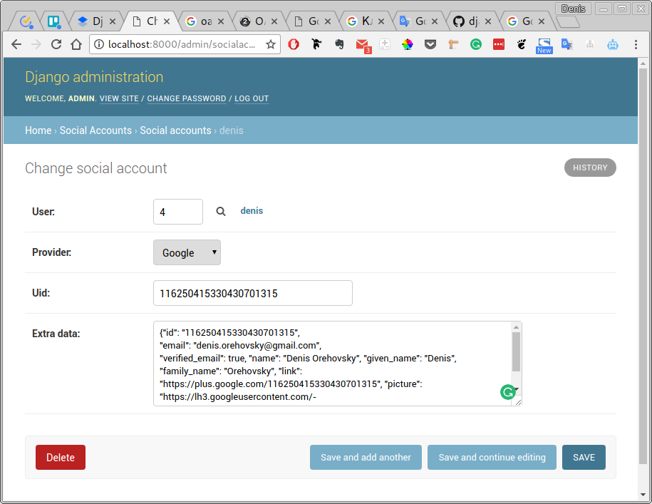 django-admin-social-account