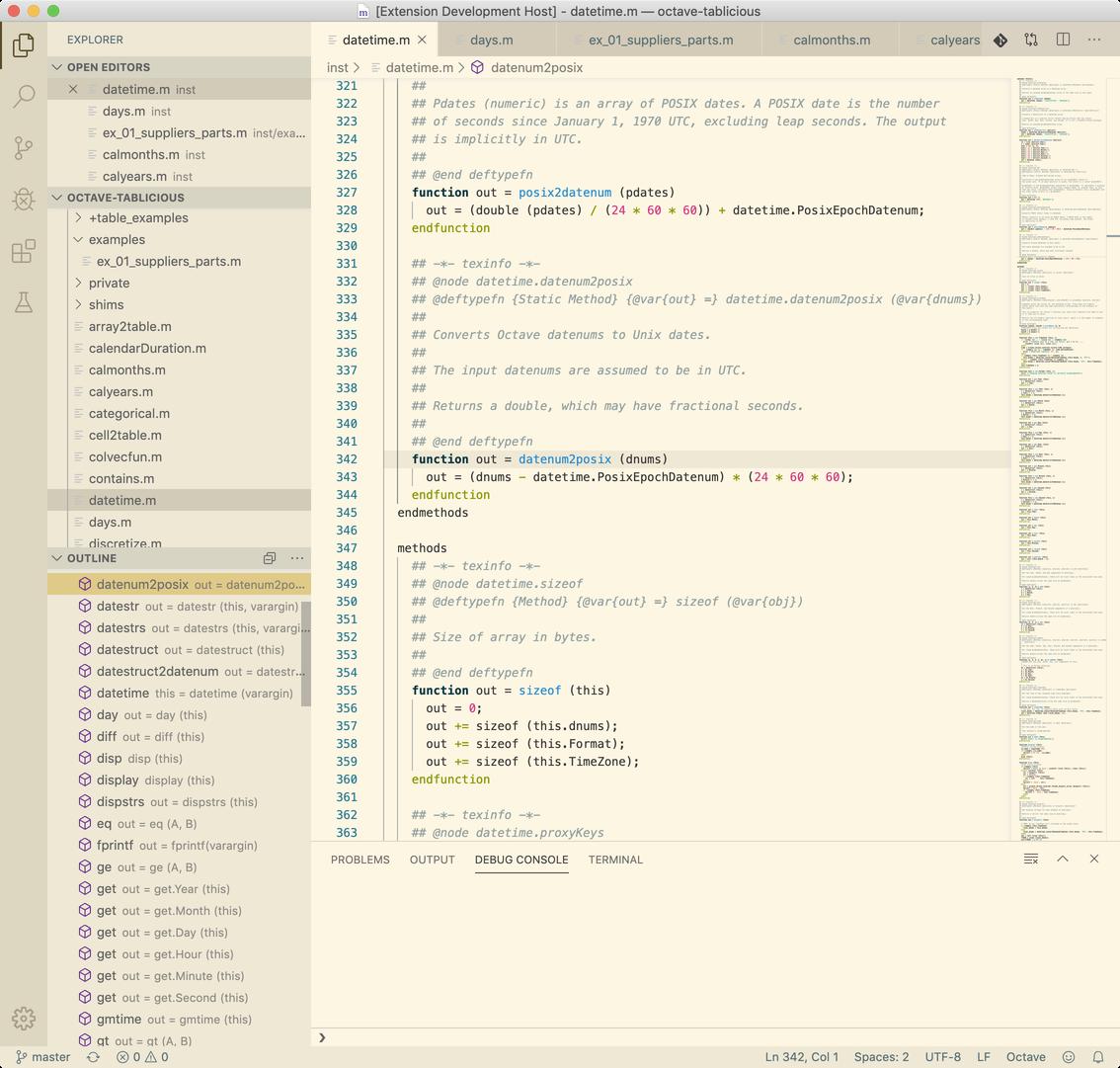 Screenshot of Octave Hacking VS Code extension