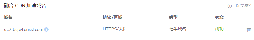 创建后的HTTPS域名