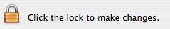 SFAuthorizationView, locked icon