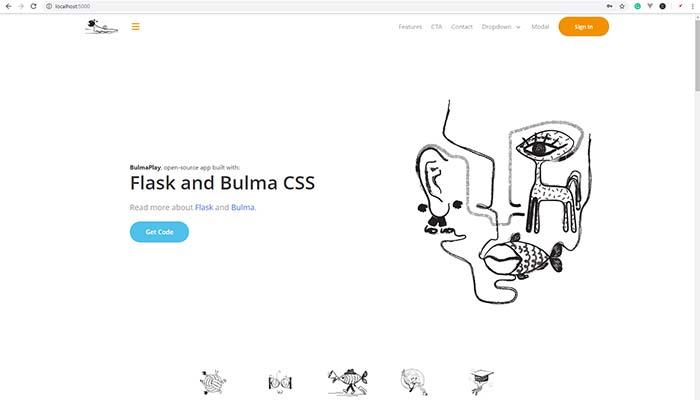 Flask Bulma CSS - Main Page