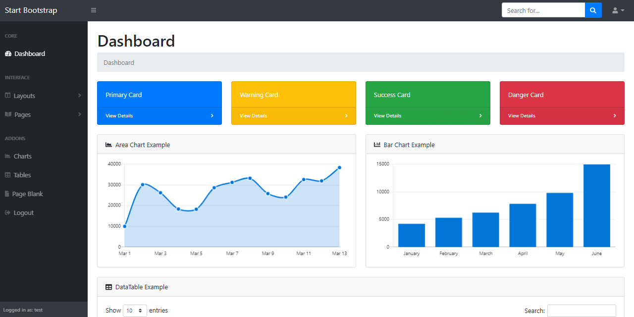 Boierplate Code Flask Dashboard - Template project provided by AppSeed.
