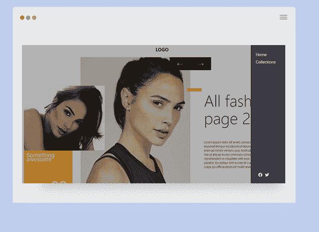 GatsbyJS Fashion screen shot  - Fashion Portfolio Design.