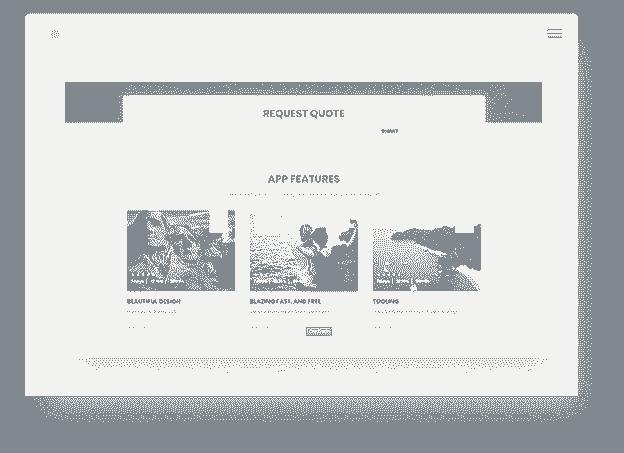 Bulma CSS Landing screen-shot.