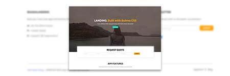 BulmaLanding App, made with Bulma CSS.