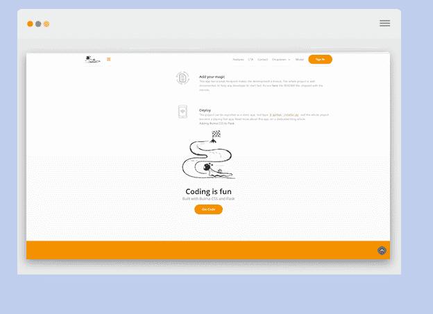 Bulma CSS FlaskPlay screen-shot.