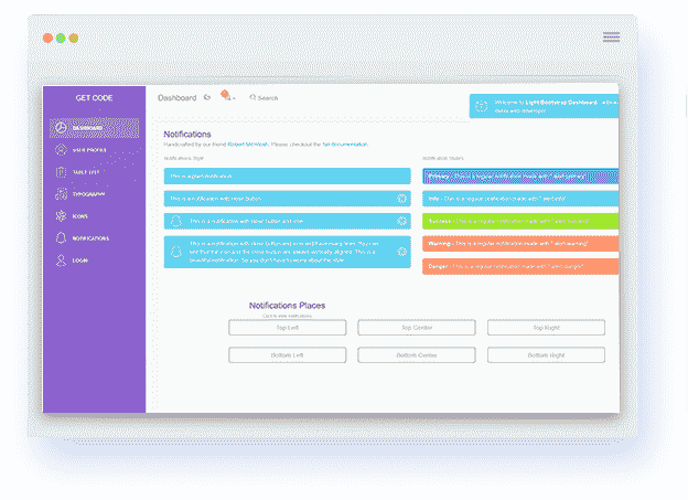 Flask Light Bootstrap Dashboard screen-shot.