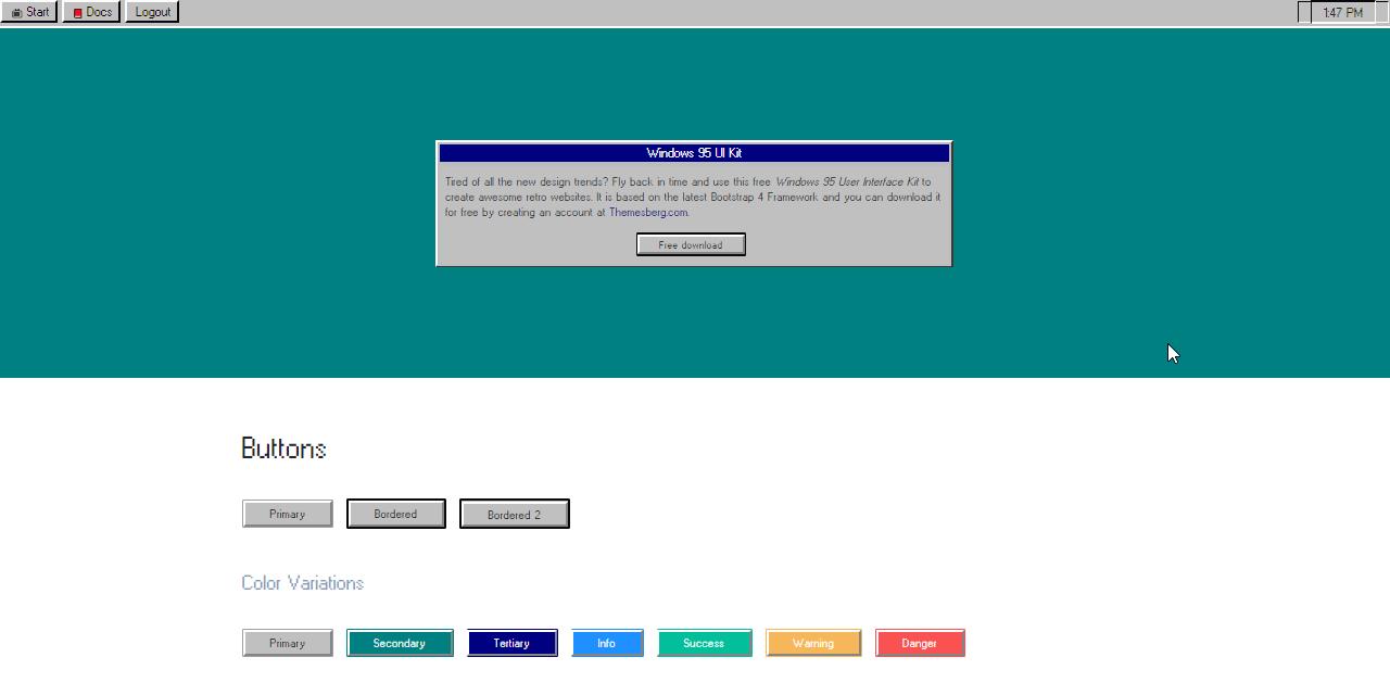 Windows 95 UI Kit - Open-Source Web App Coded in Flask.