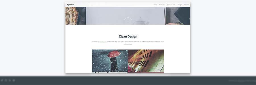 HTML5 Up Fractal design coded in JAMstack