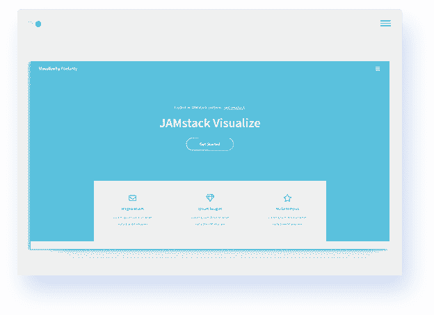 JAMStack Visualize screen-shot.