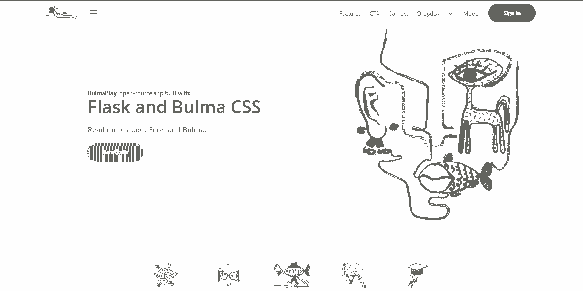 Top Image of BulmaPlay - Open-Source App coded in Flask and Bulma CSS.