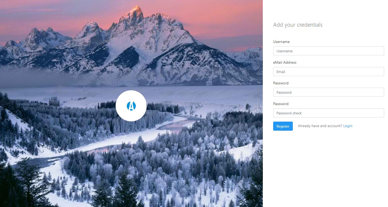 Django Dashboard Adminator - Registration page.