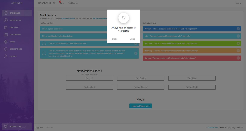 Django Dashboard Light - UI Modals Page.