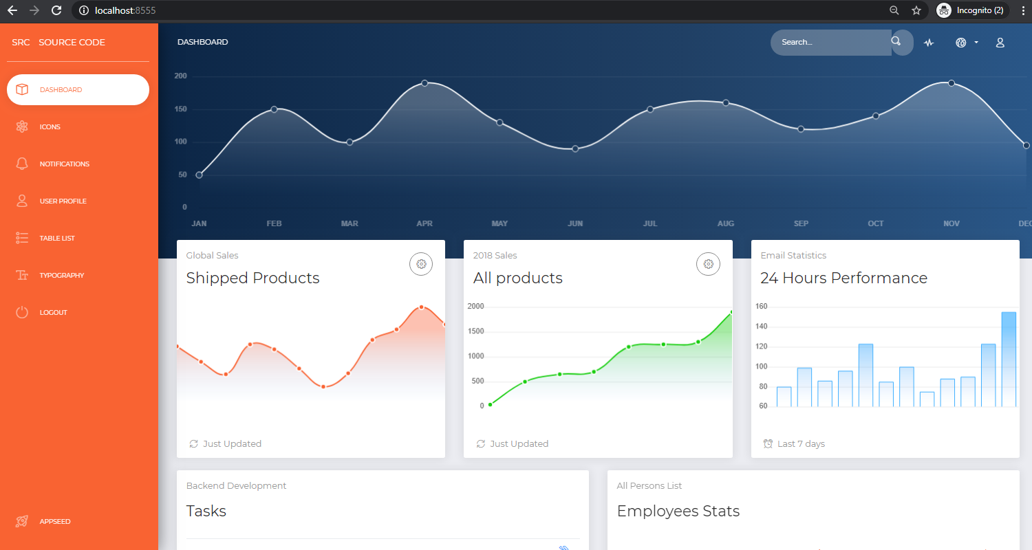 Django Dashboard NowUI - Open-Source Admin Panel.
