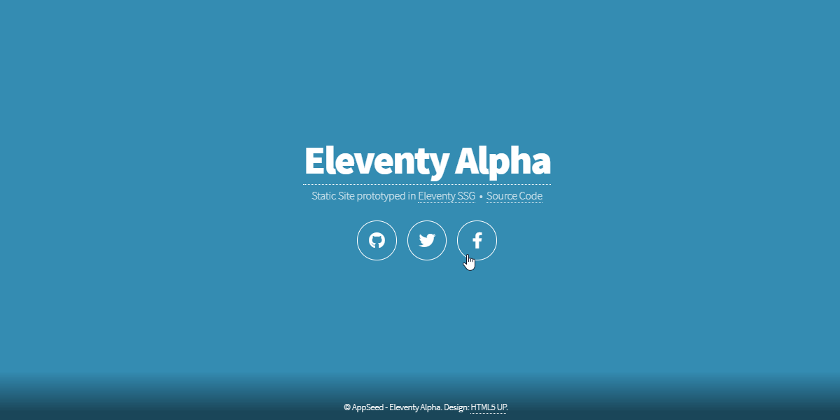 Eleventy Html5UP Aerial - Static Site built with 11ty.