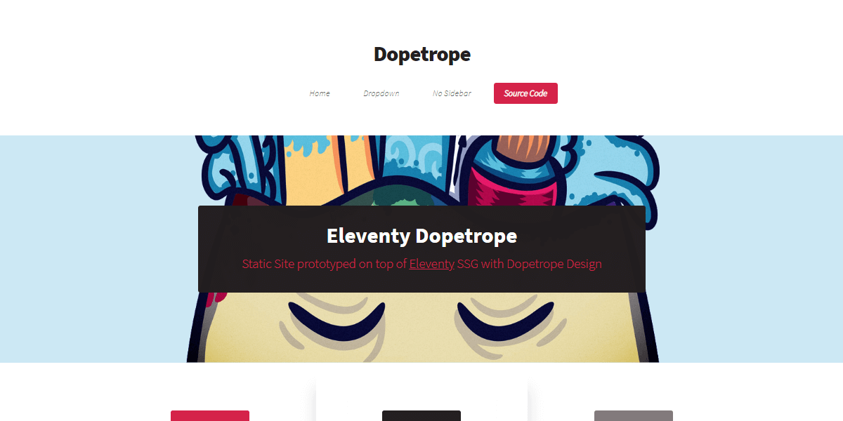 Eleventy Static Site with Dopetrope design.