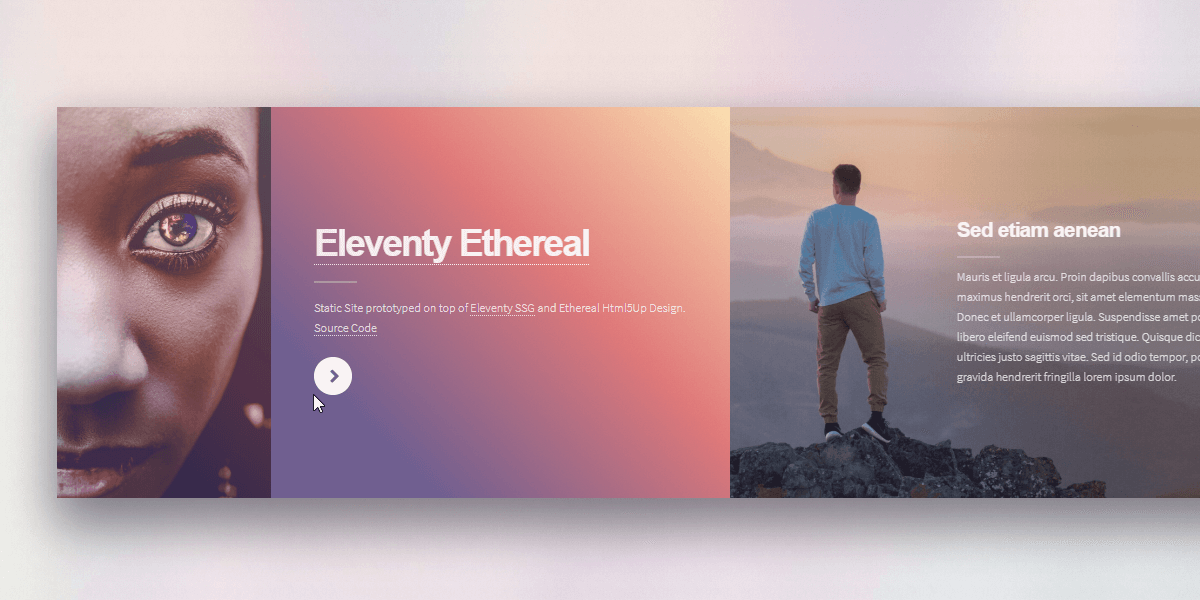 Eleventy Html5Up Ethereal - Open-Source Static Site Starter.