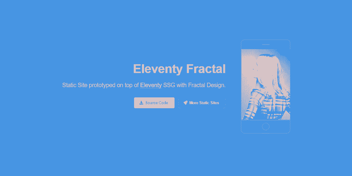 Static Site Eleventy Fractal - Static Site prototyped in Eleventy SSG.