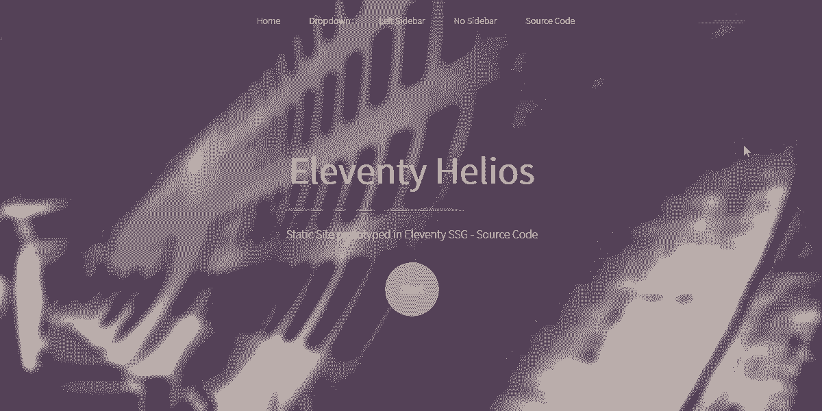 Main Image of Static Site Eleventy Helios WebApp - generated in Flask by AppSeed App Generator.