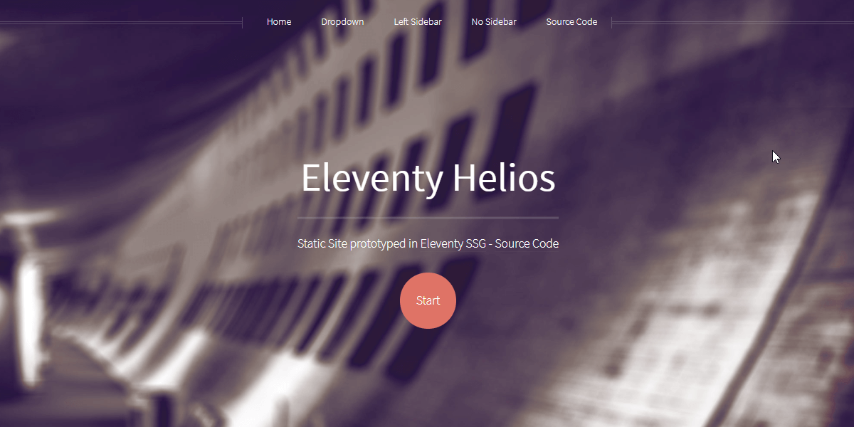 Eleventy Html5UP Helios - Static Site built with 11ty.