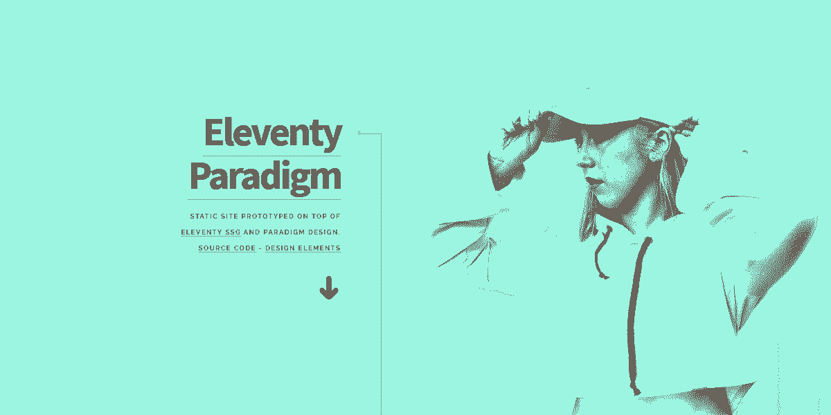 Main Image of Static Site Eleventy Paradigm WebApp - generated in Flask by AppSeed App Generator.