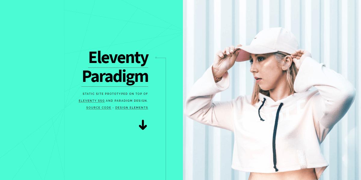 Eleventy Static Site, with Paradigm design.