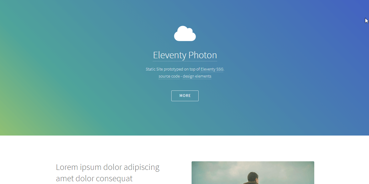 Eleventy Html5UP Photon - Static Site built with 11ty.