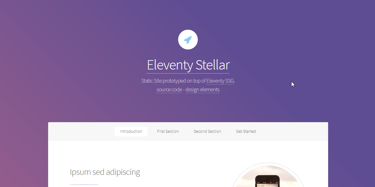Eleventy Html5UP Stellar - Static Site built with 11ty.