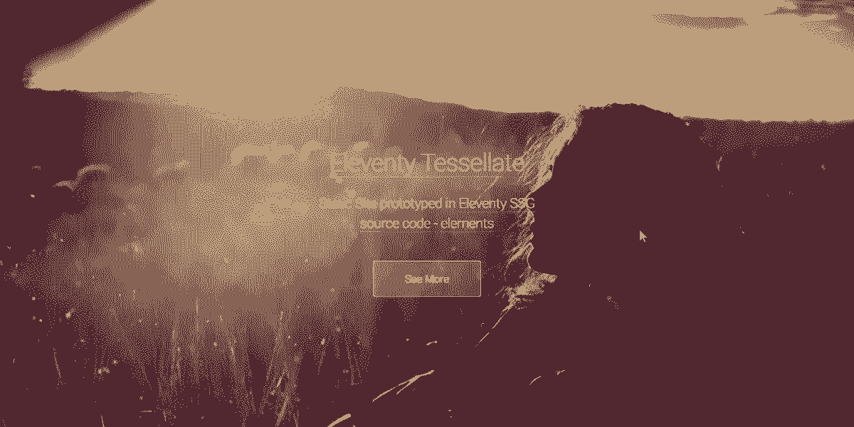 Main Image of Static Site Eleventy Tessellate WebApp - generated in Flask by AppSeed App Generator.