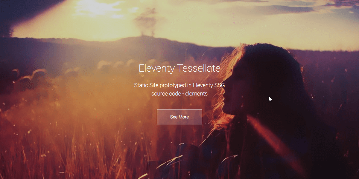 Eleventy Html5UP Tessellate - Static Site built with 11ty.
