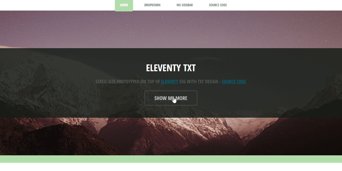 Eleventy Html5UP TXT - Static Site built with 11ty.