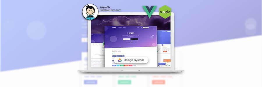 Express Vuejs Argon Design System - App Screen Shot.