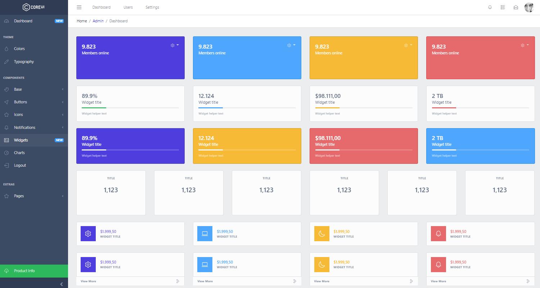 Flask Dashboard CoreUI - Charts Page.