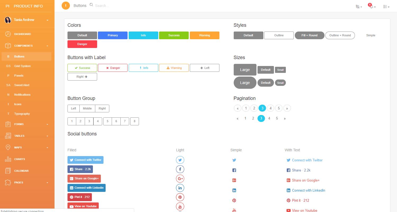 Flask Dashboard Light Pro - App Screen.
