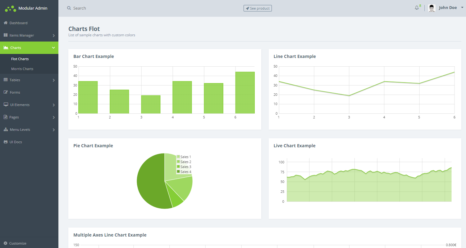 Flask Dashboard Modular Admin - Maps Page.