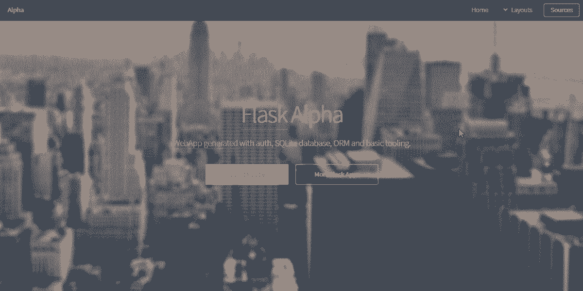 Main Image of Flask Html5 Up Alpha WebApp - generated in Flask by ApPSeed App Generator.