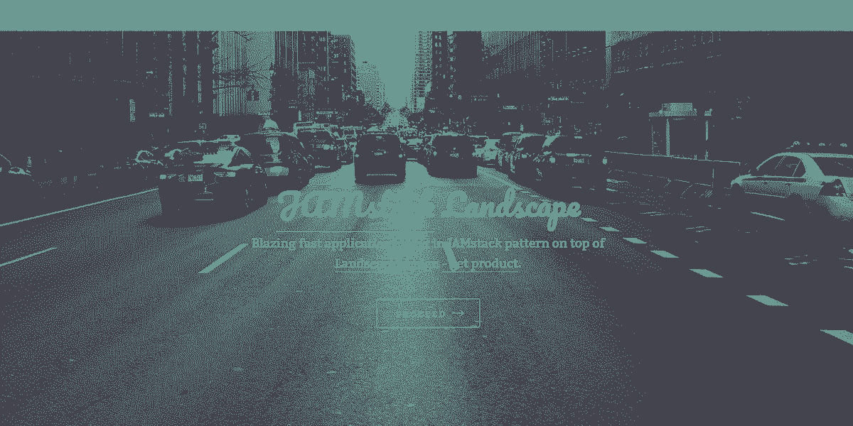 Main Image of JAMStack Landscape - Web App coded in Flask Microfraework.
