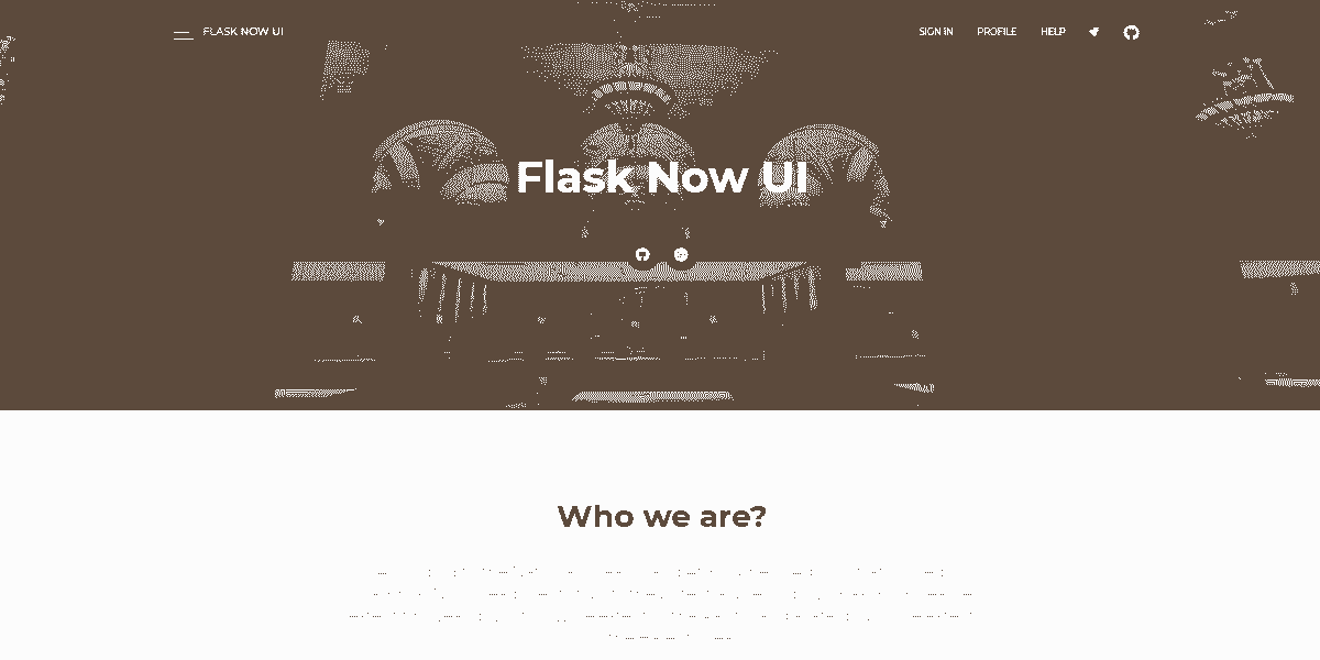 Main Image of Flask NowUI Kit WebApp - generated in Flask by AppSeed App Generator.