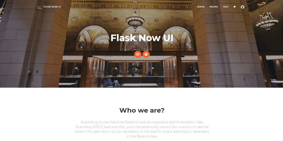Flask Now UI Kit - Open-Source Web App coded in Flask.
