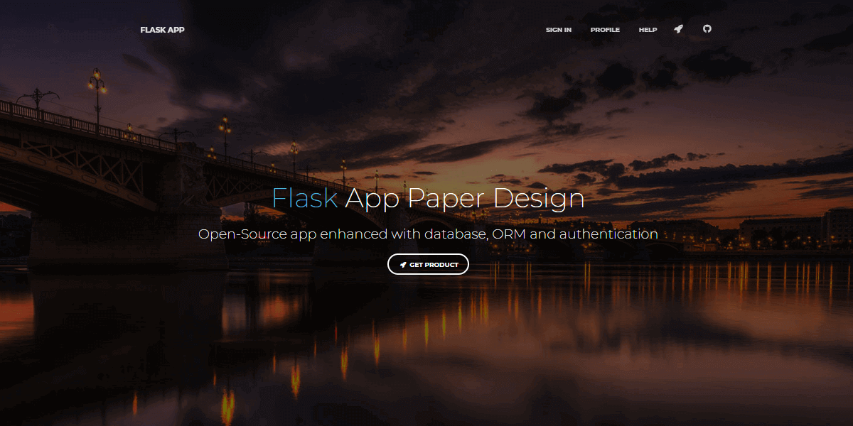 Flask Paper Kit - Gif animated intro.