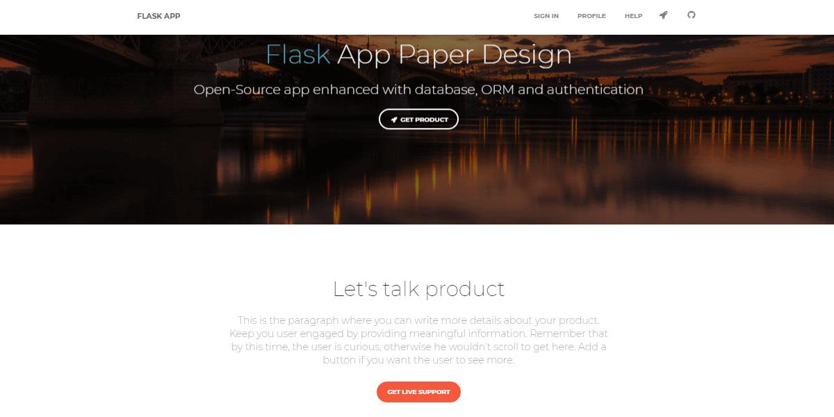 Flask Paper Kit - Open-Source Web App.