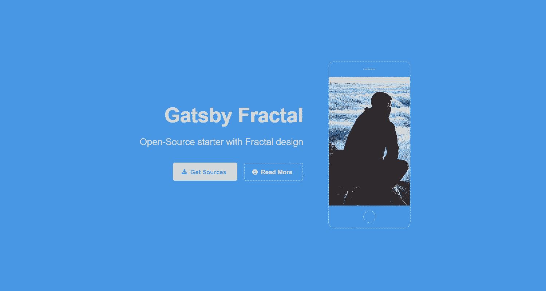 GatsbyJS Fractal - a beautiful GatsbyJS starter.