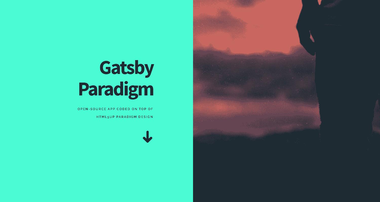 GatsbyJS Paradigm - a beautiful GatsbyJS starter.